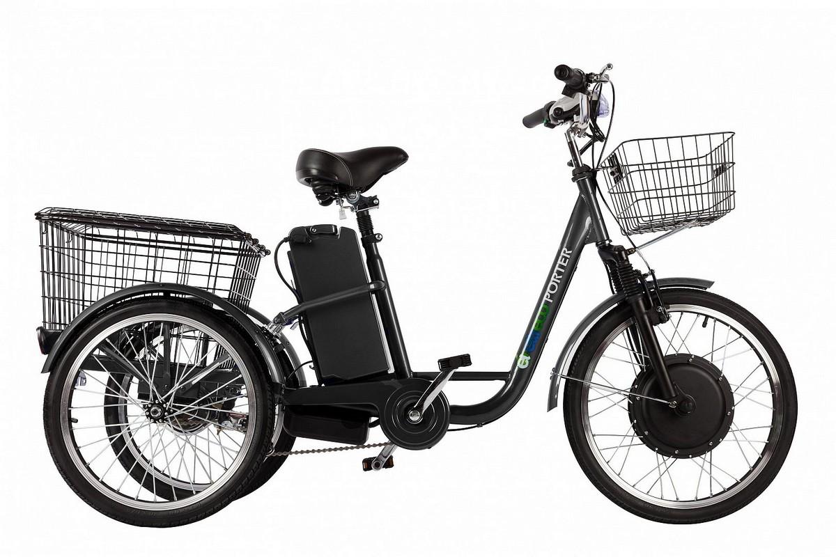 Велогибрид трицикл Green City Crolan 350W черный