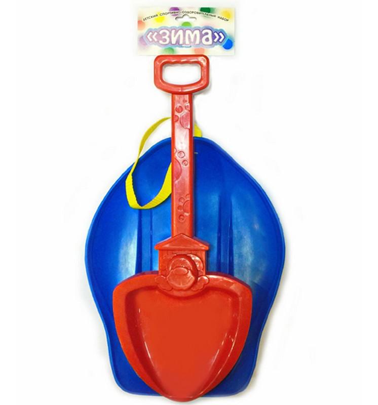 Детский набор №6 (ледянка с ручкой - ремнем + лопатка большая) детский набор для моделирования stirling engine stirling gz001