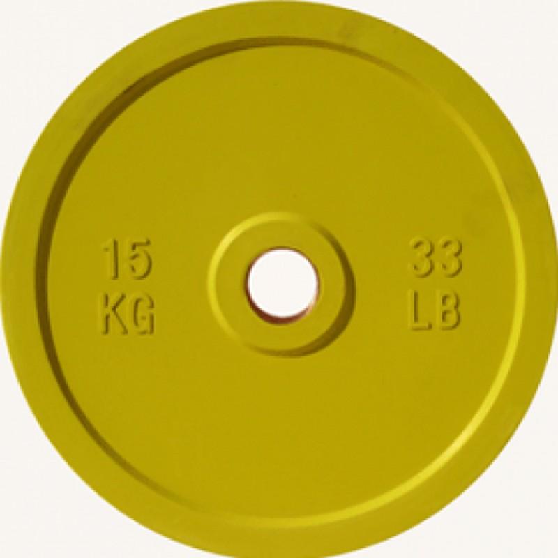 Купить Диск Johns d51мм, 15кг DR71025 - 15С желтый,