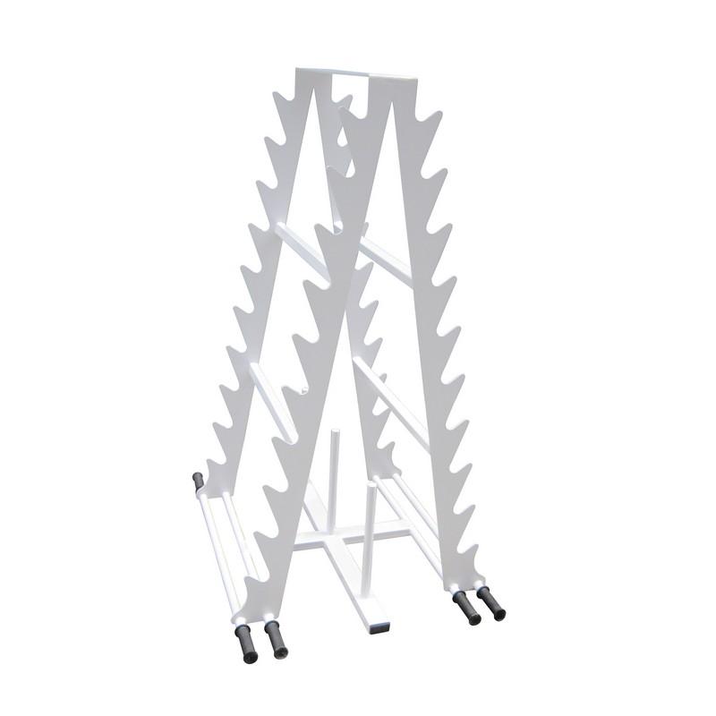 Стойка универсальная двухсторонняя Атлант для штанг, перекладин, дисков стойка для хранения аэробических штанг на 12 комплектов 7207549 вертикальная