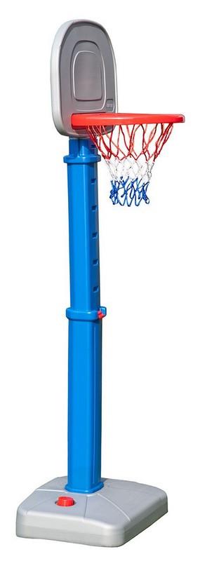 Баскетбольный щит на регулируемой опоре Deluxe Basketball (с мячом для мини-баскетбола)