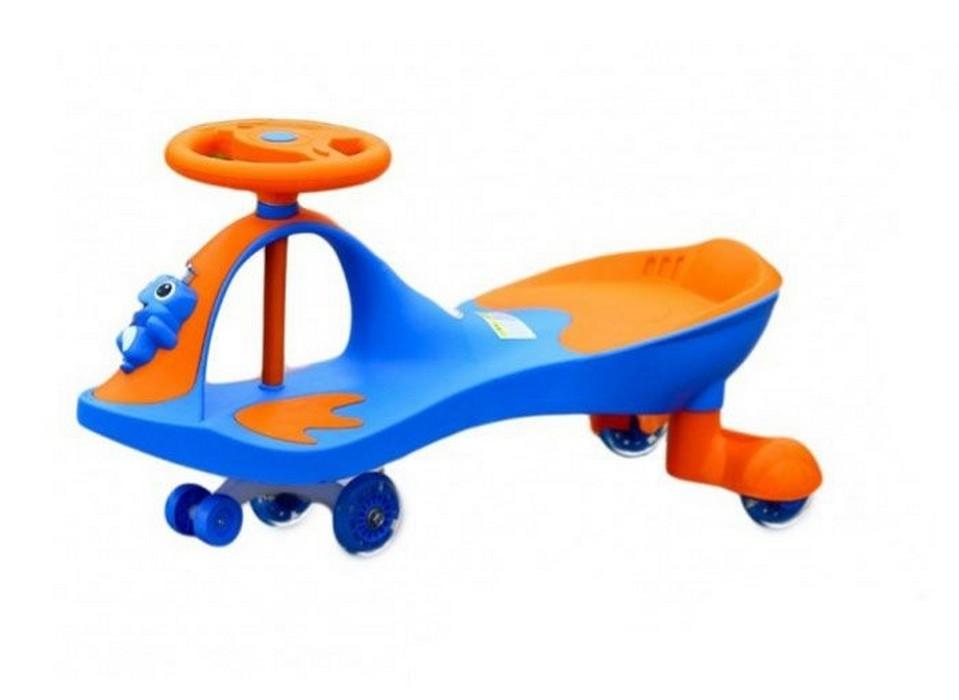 Машинка детская с полиуретановыми колесами Bradex Бибикар-лягушонок синий DE 0270 от Дом Спорта