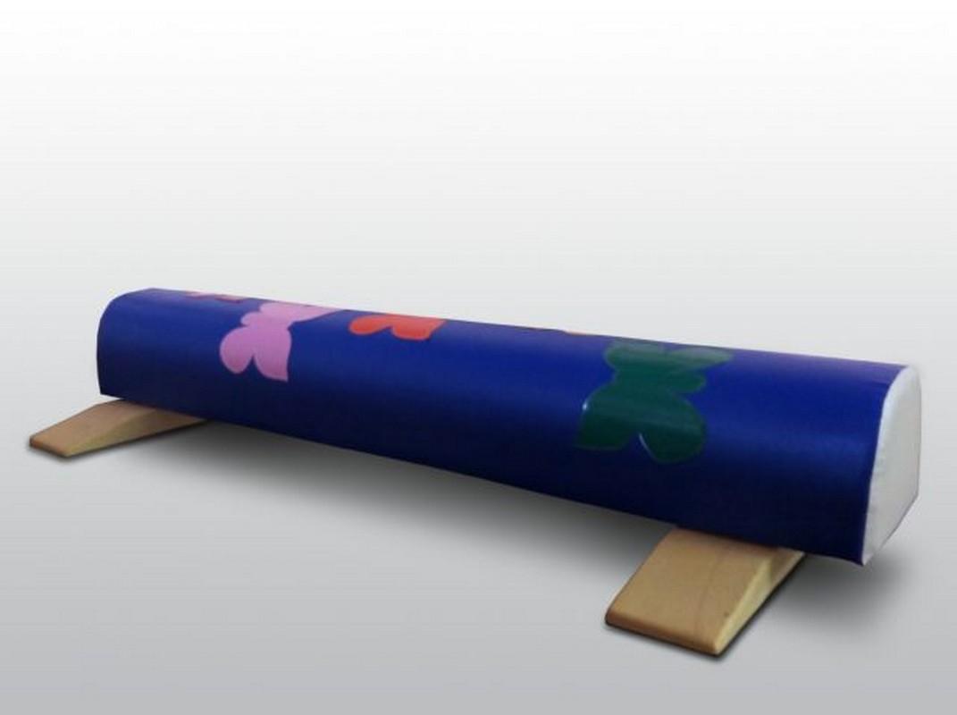 Купить Бревно гимнастическое ФСИ 1,5м круглое напольное, мягкое с аппликацией, опорами,