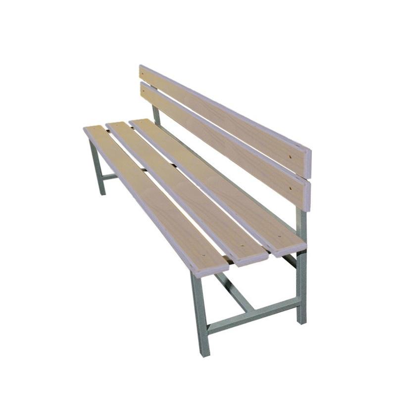 Купить Скамейка для раздевалки со спинкой 1500 мм сиденье из фанеры Dinamika ZSO-002206,