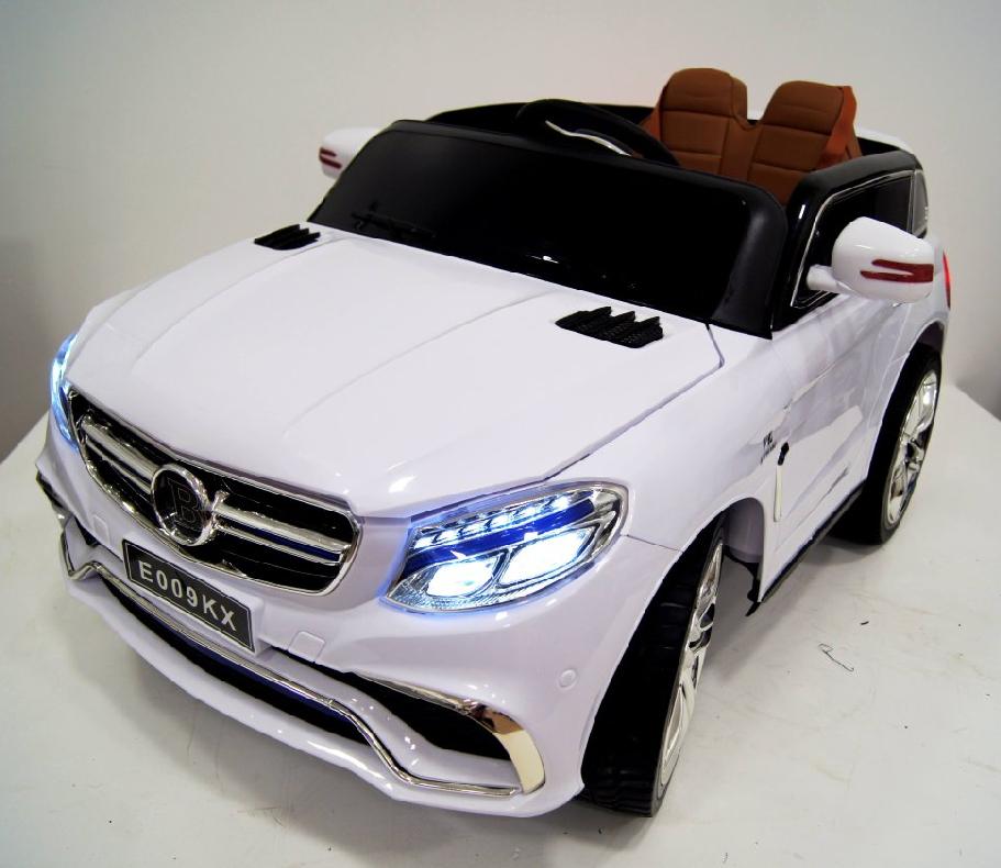 Купить Электромобиль River-Toys Mercedes E009KX белый с ДУ, Детские электромобили