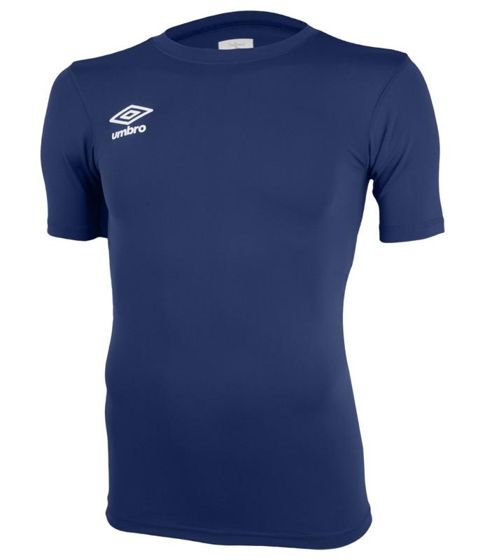 Футболка тренировочная Umbro FW SS Crew base layr мужская (Y70) т.синяя