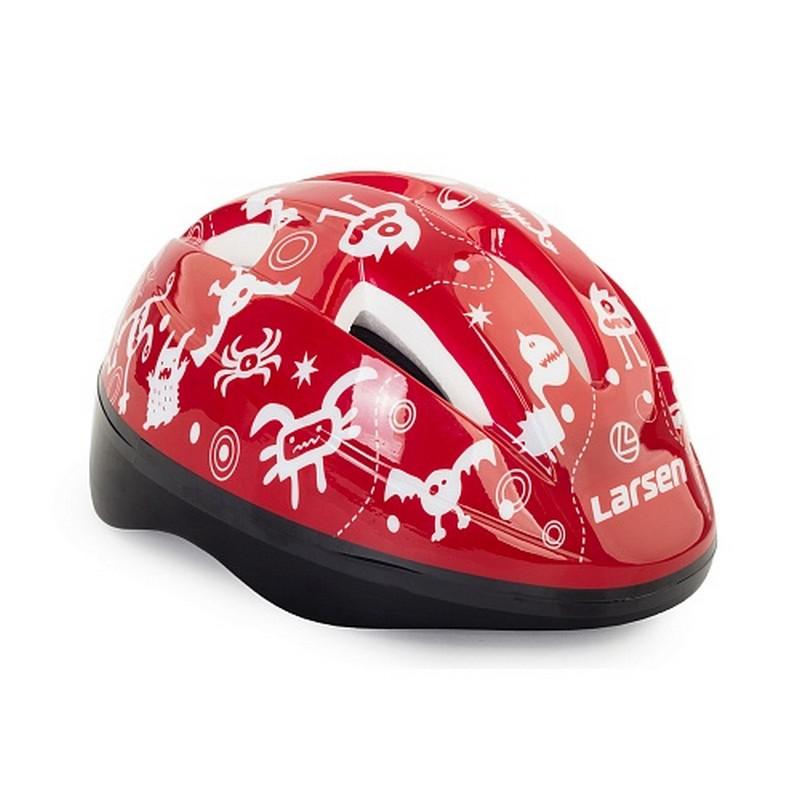 Шлем роликовый Larsen Kiddy Red детский шлем роликовый larsen h1flower