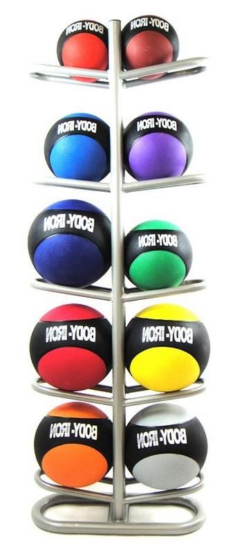 Стойка для хранения мячей ЗМК Эконом на 10 шт., двухсторонняя, стационарная