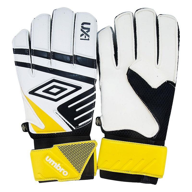 Перчатки вратарские Umbro UX Precision Glove 20533U-11V бело-черно-желтый