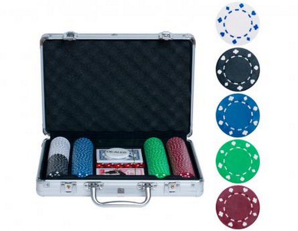 Набор для покера на 200 фишек без номинала bez200 от Дом Спорта