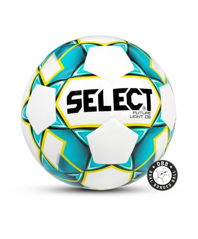 Купить Мяч футбольный Select Future Light DB 811119, №4 белый/бирюзовый/желтый,