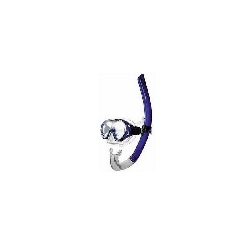 Купить Набор для плавания Atemi маска+трубка, детский 24100 синий,