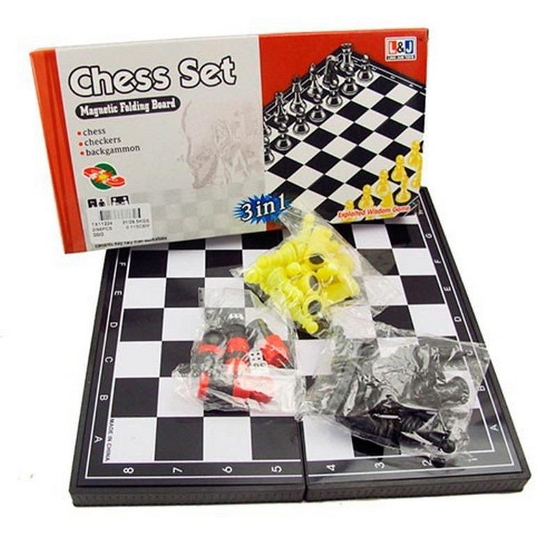 Купить Игра 3 в 1 шашки, шахматы, нарды магнитные TX11224, NoBrand