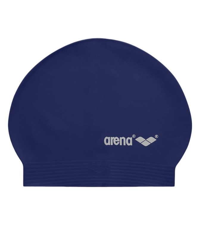 Шапочка для плавания Arena SoftLatex (91294 72) латекс, navy/silver шапочка для плавания arena classic siliconeсиликон