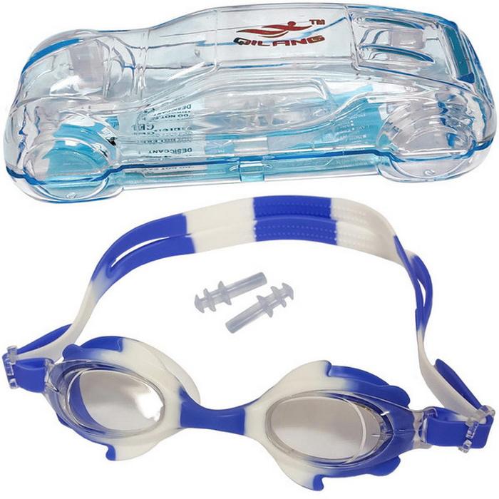 Купить Очки для плавания детские (сине-белый) B31570, NoBrand