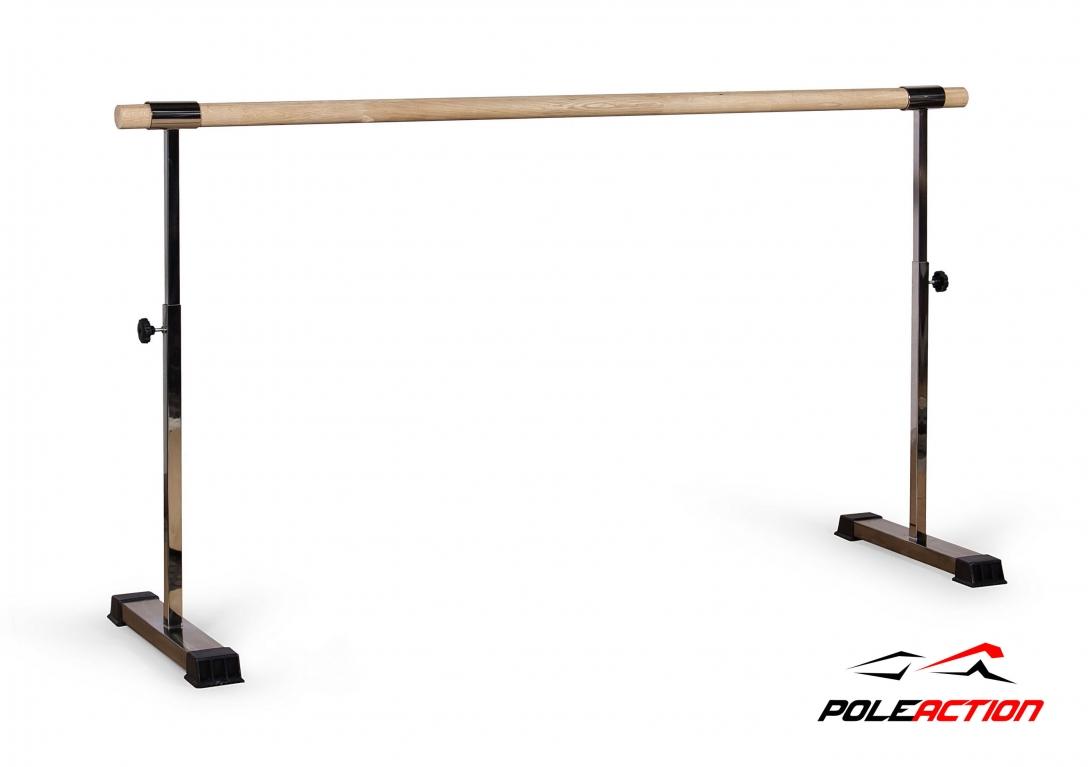 Картинка для Мобильный (переносной) хореографический станок Poleaction v2.0 (нержавеющая сталь. Поручень - нержавеющая труба) 520