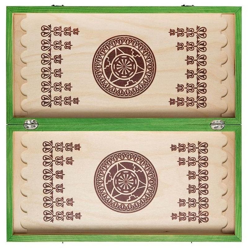 Купить Нарды малые цветные Орлов В-4g зеленые, NoBrand