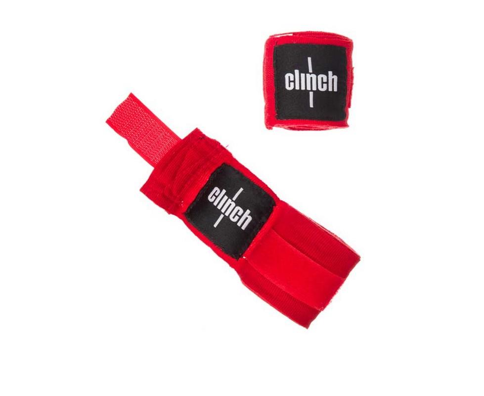 Бинты эластичные Clinch Boxing Crepe Bandage Punch красные C139