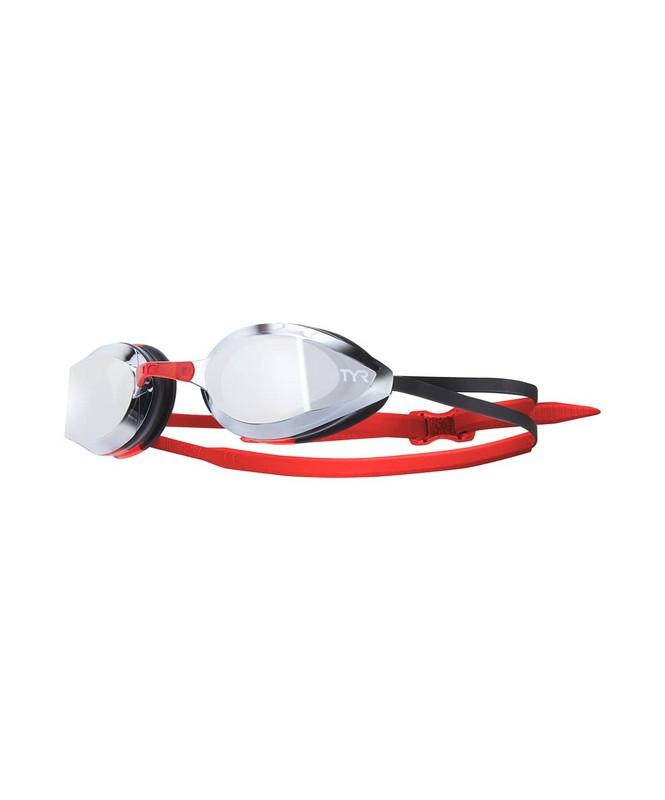 Очки для плавания TYR Edge-X Racing Mirrored, LGEDGM/717, красный фото