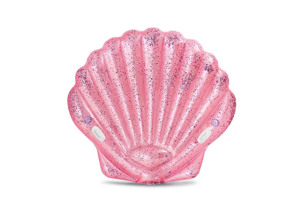 Надувной матрас-игрушка Ракушка Intex Pink Seashell Island 178х165x24 см 57257,  - купить со скидкой