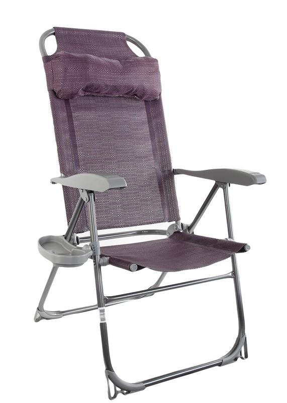 Кресло-шезлонг Ника КШ2\1 баклажан