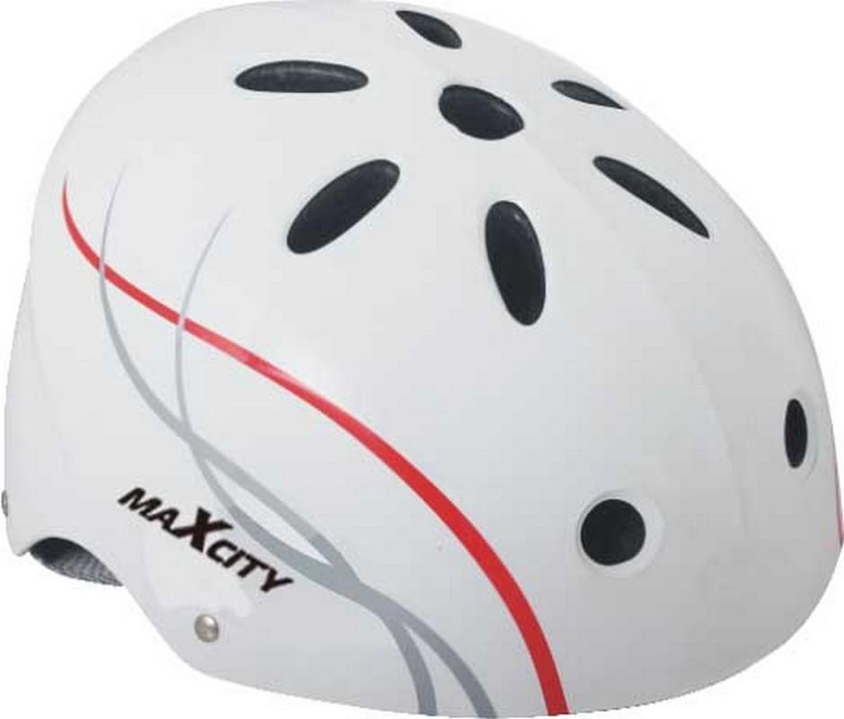 Шлем MaxCity Roller Liner белый