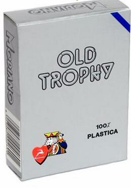 Карты для покера Modiano Old Trophy 100% пластик, синяя рубашка