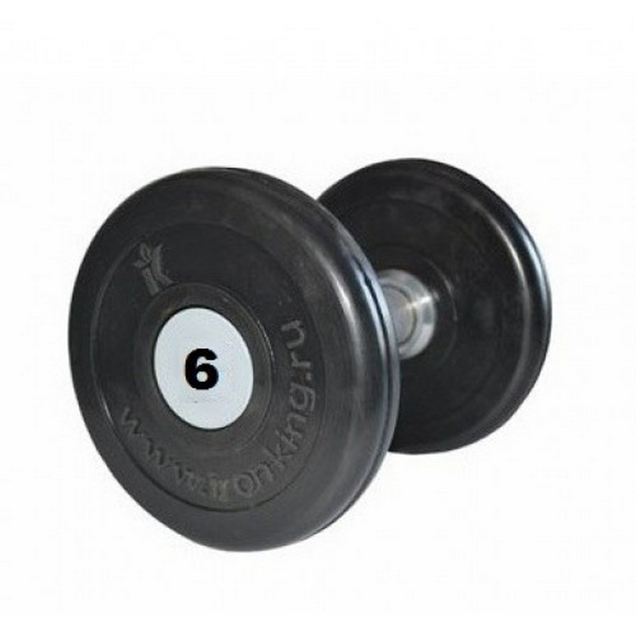 Купить Гантель профессиональная хром/резина 5 кг. Iron King IK 500-5,