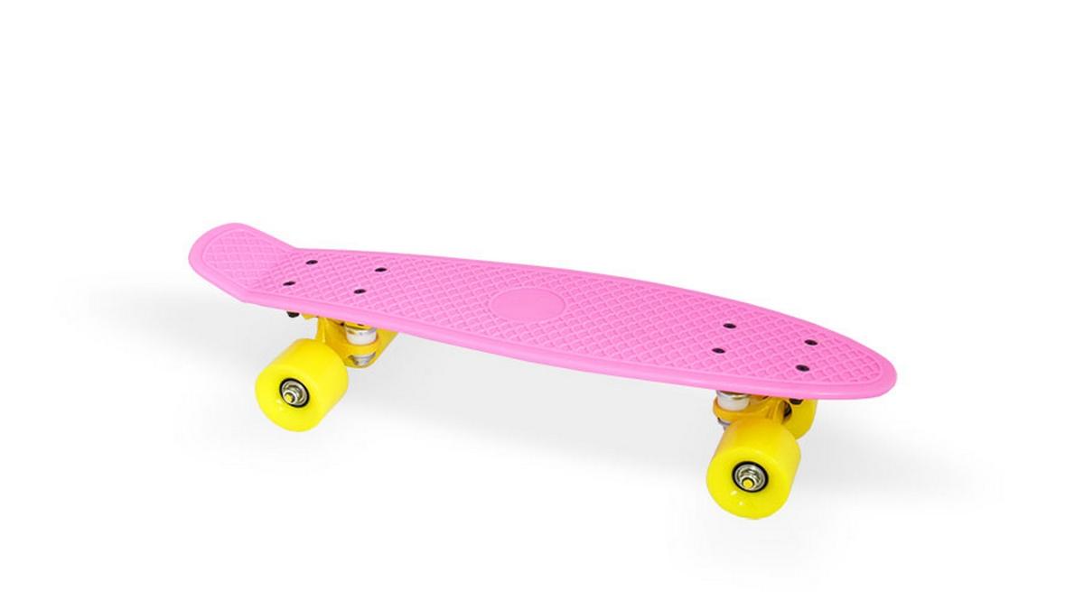 Скейт пластиковый 22х6 quot; Moove Fun PP2206-1 pink скейт пластиковый 22х6 quot moove fun pp2206 1 yellow
