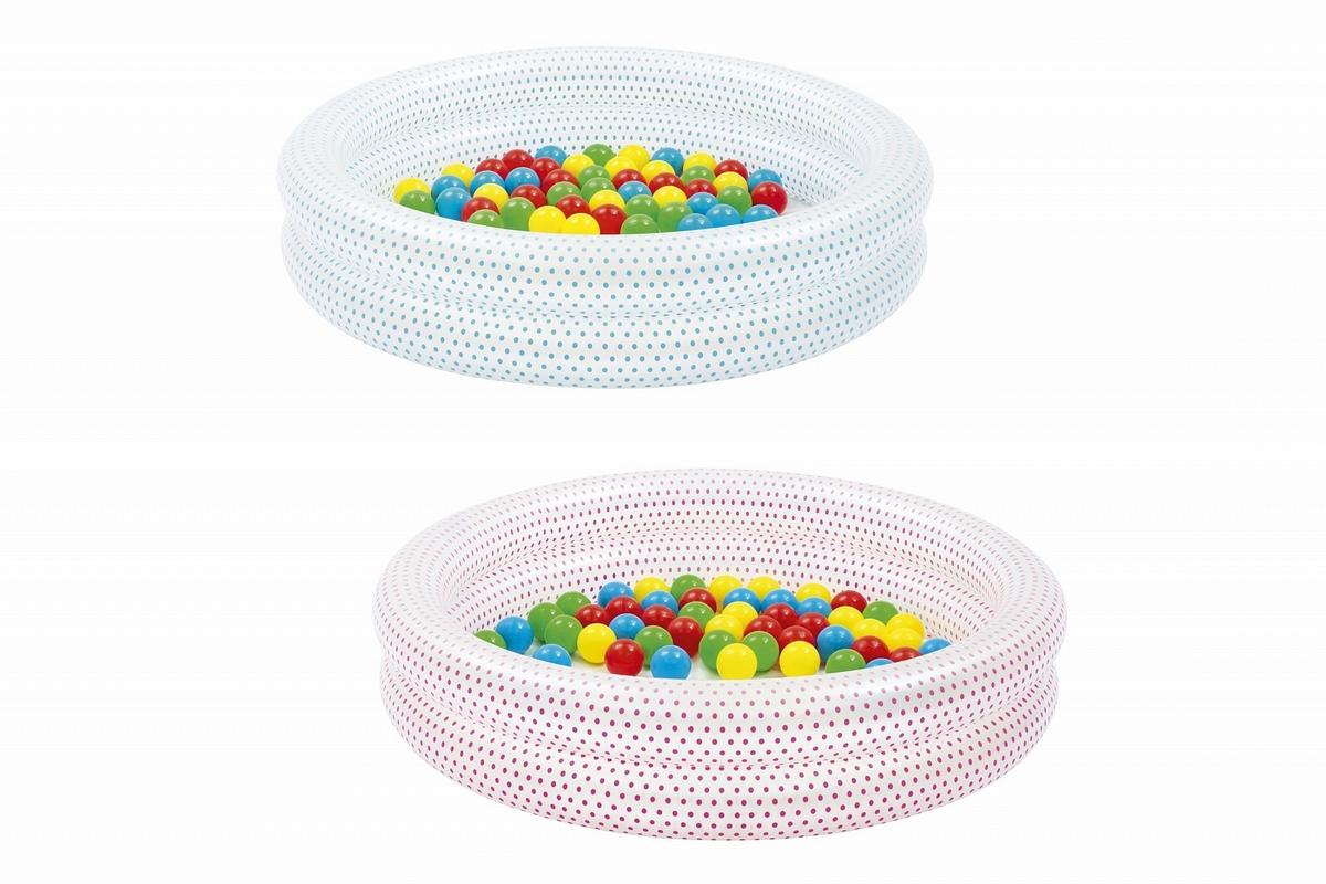 Купить Детский надувной бассейн с мячами Play Pool, 91x20см Bestway 51141,