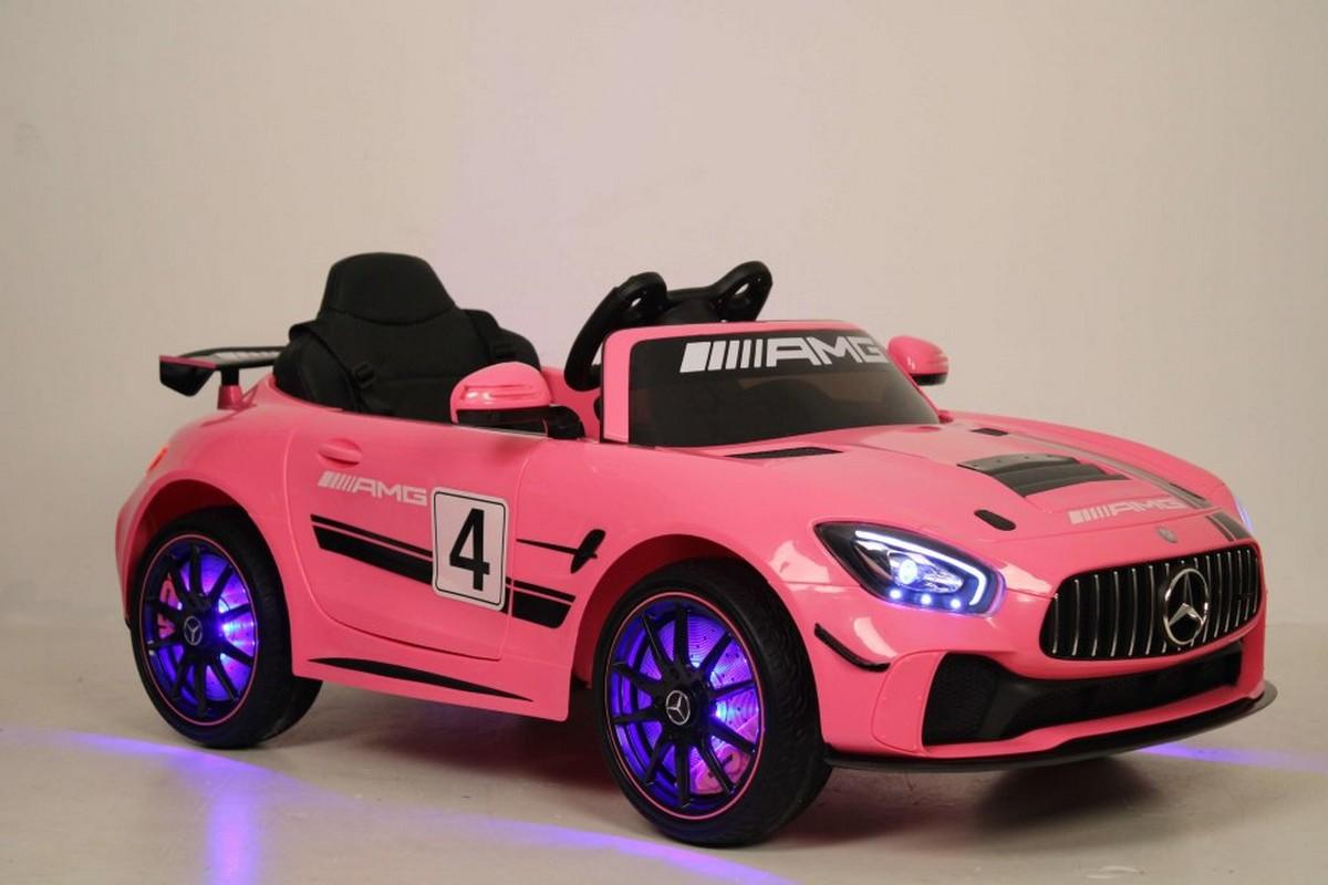 Купить Детский электромобиль River-Toys Mercedes-Benz GT4 A007AA Pink, Детские электромобили