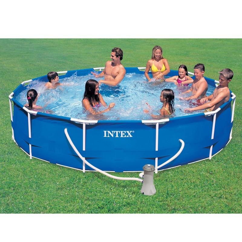 Бассейн каркасный Intex на опорах 366х76см 28212 + фильтр-насос 2,0 м3/ч лодка intex challenger k1 68305