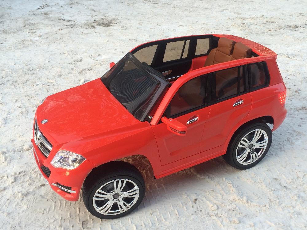 Электромобиль River-Toys Mercedes-Benz GLK300 красный с ДУ (лицензия)
