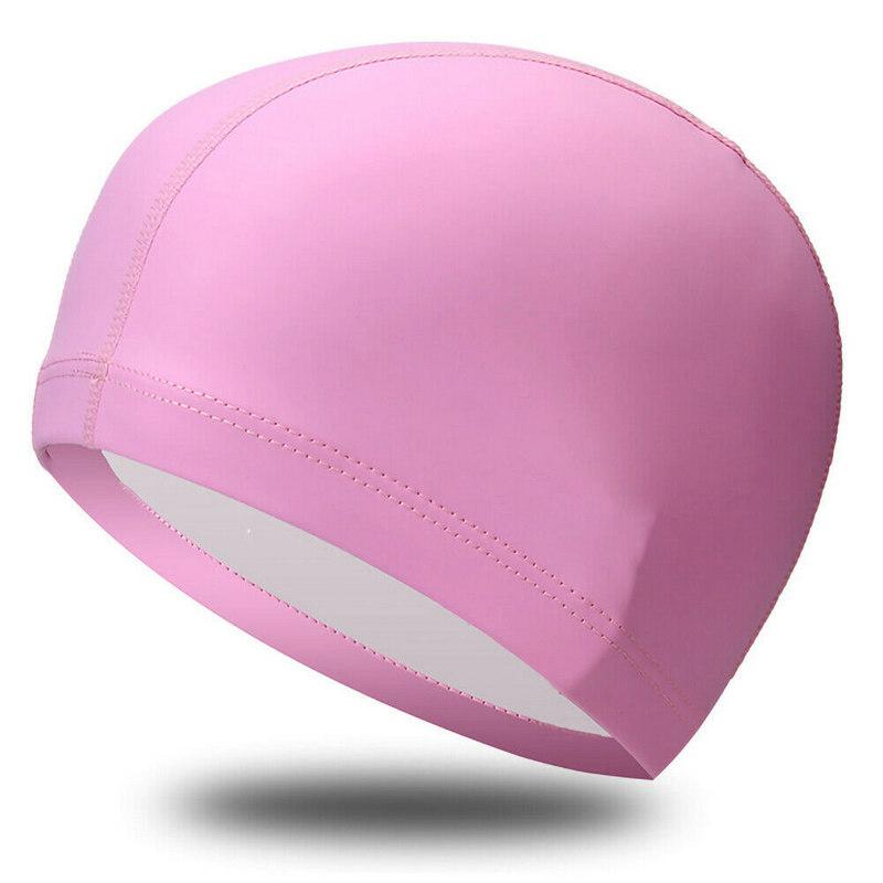Купить Шапочка для плавания одноцветная B31516-2 (Розовый), NoBrand