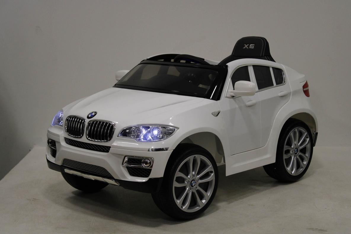 Электромобиль River-Toys BMW X6 (лицензия) белый с ДУ