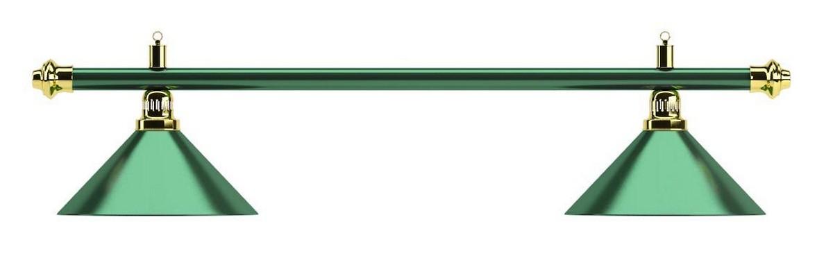 Купить Лампа на два плафона Allgreen d35 см 75.000.02.0 зелёная штанга, зелёный плафон, NoBrand