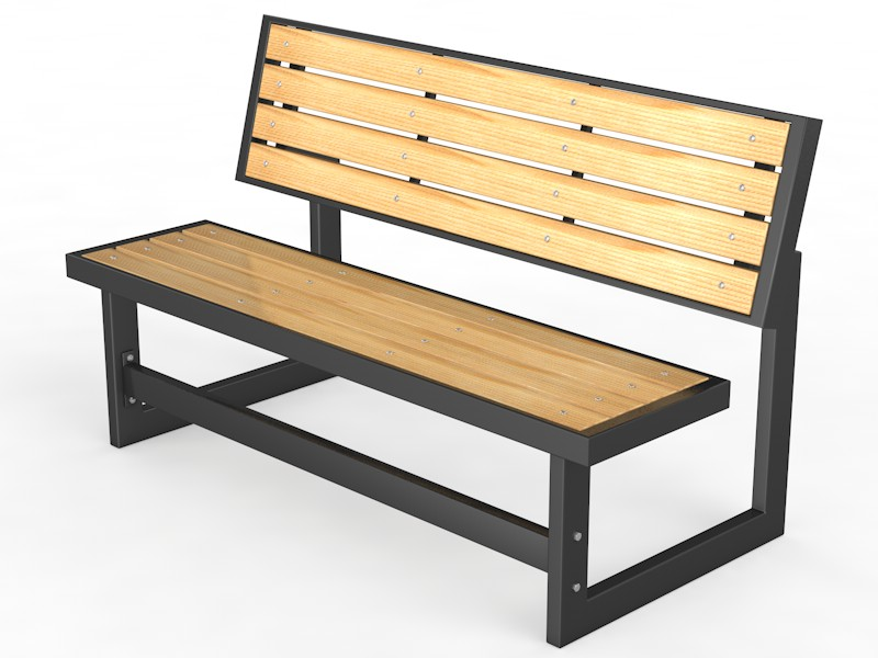 Купить Уличная скамейка со спинкой Парк, длина 2500 мм Glav 14.6.700-2500,