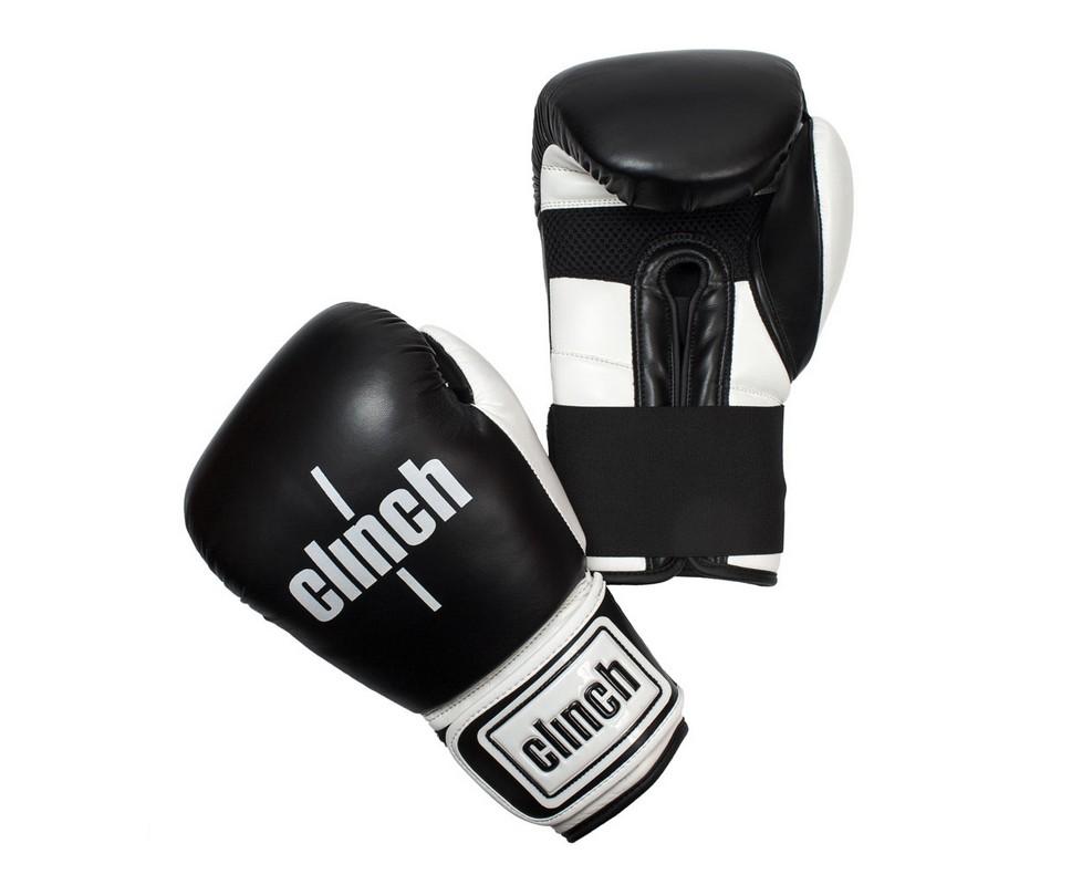 Перчатки боксерские Clinch Punch черно-белые C131