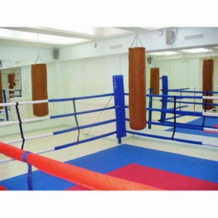 Купить Ринг боксёрский на растяжках Atlet 5х5 м, боевая зона 4х4 монтажная площадка 8х8 м IMP-A428,