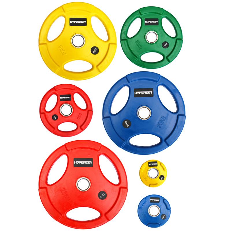 Диск цветной олимпийский Hyperset желтый D=50 мм 15 кг WP074 гантель 47 5 кг hyperset db139
