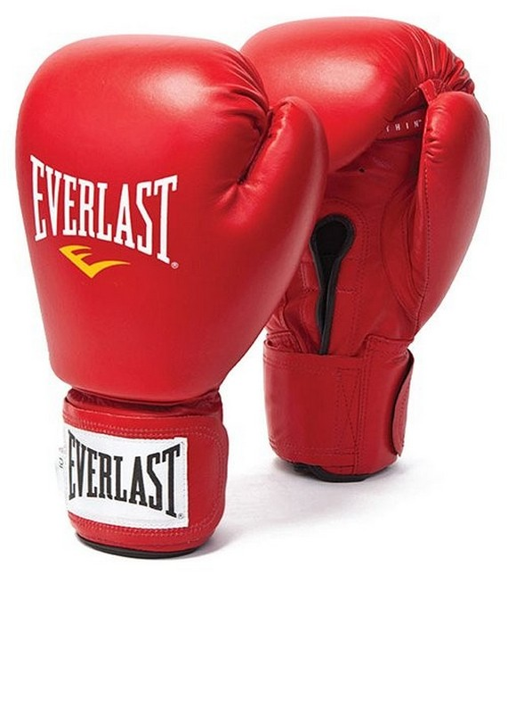 Перчатки боксерские Everlast Amateur Cometition любительские 641000-10 PU красные шорты adidas боксёрские боксерские amateur boxing shorts красные размер s артикул aditb152