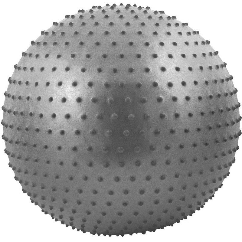 Мяч гимнастический Anti-Burst массажный 55 см FBM-55-7, серый фото