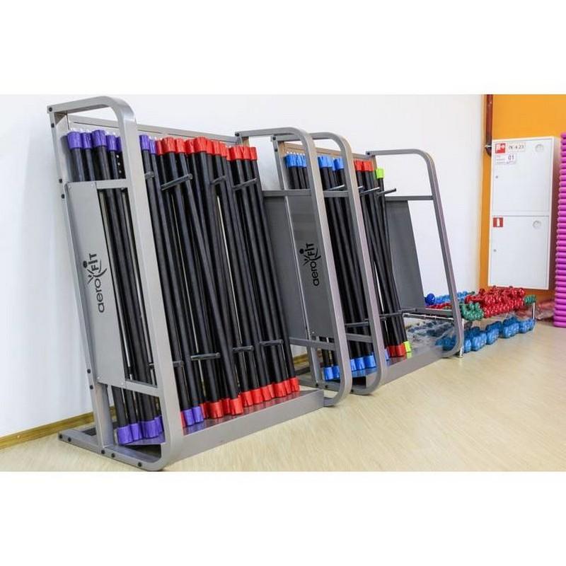 Стойка для бодибаров, 6 секций на 100 шт Aerofit RK-BB-5 стойка для pump аэробики для 20 наборов fitness division fd rk bps 834