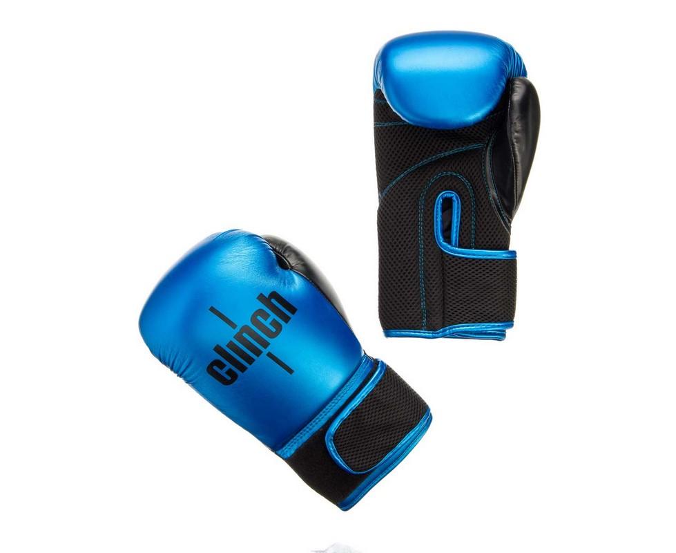 Перчатки боксерские Clinch Aero сине-черные C135