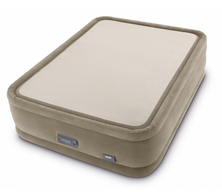 Двуспальная надувная кровать Intex PremAire ThermaLux Airbe 152х203х51см 64936