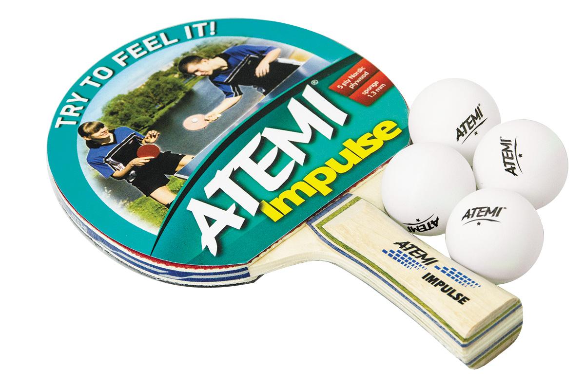 Купить Набор для настольного тенниса Atemi Impulse 1 ракетка+4 мяча,