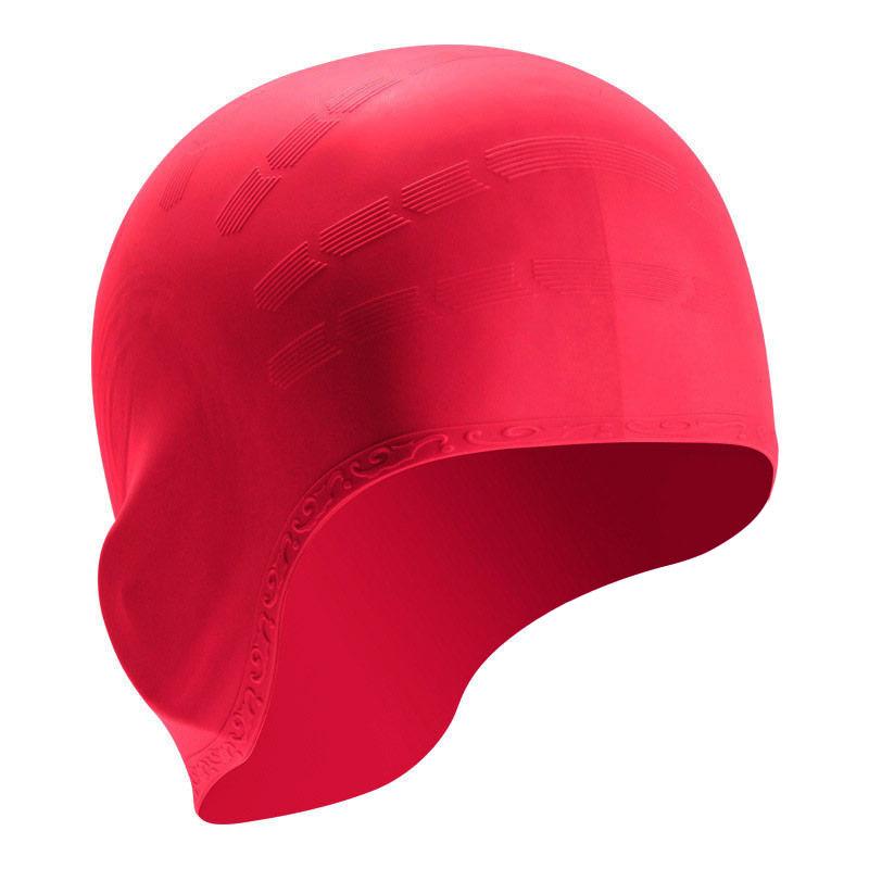 Купить Шапочка для плавания силиконовая B31514-6, малиновый, NoBrand