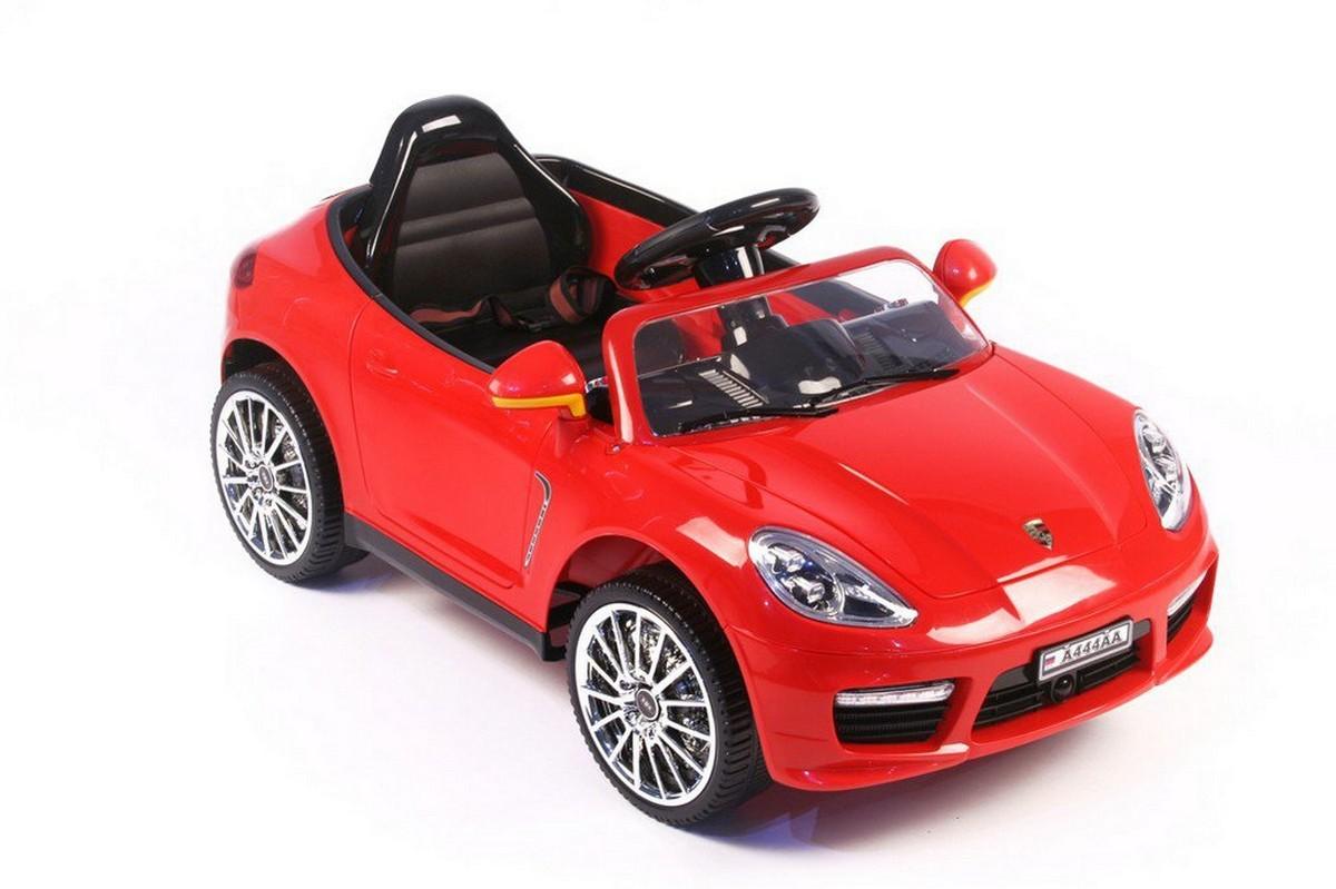 Купить Электромобиль River-Toys Porsche Panamera А444АА (кожа) красный, Детские электромобили