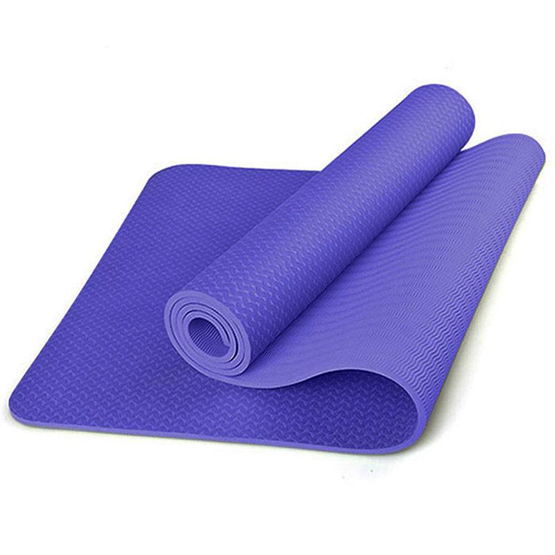 Купить Коврик для йоги ТПЕ 183х61х0,6 см B31276-4 фиолетовый, NoBrand