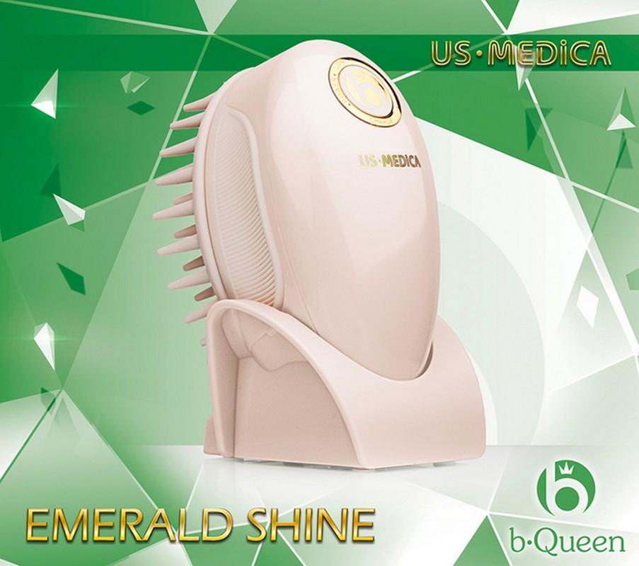 Прибор для мытья и массажа головы US Medica Emerald Shine (розовый) прибор фототерапевтический us medica therapy gold розовый для led фототерапии